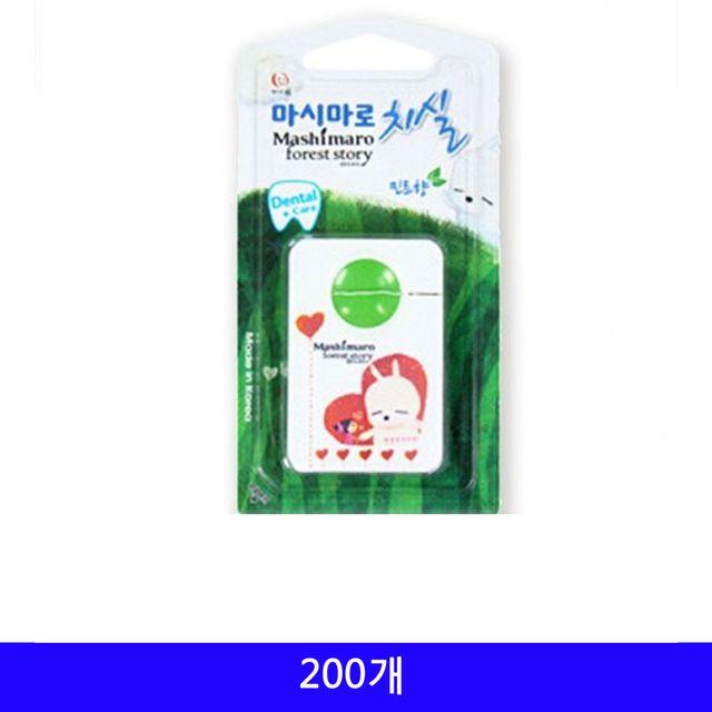 삼정 휴대용 치실 일회용 200개/1BOX