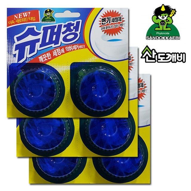 W 산도깨비 화장실양변기 세정탈취제 6알 탈취제