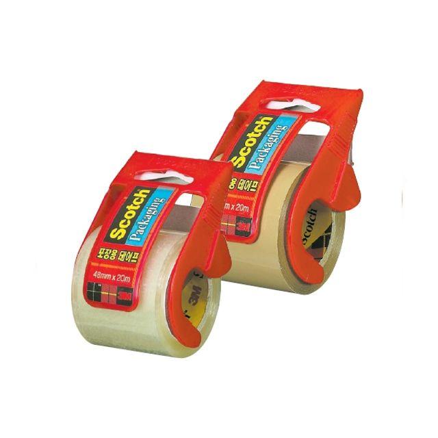 포장용테이프(132D 투명 48mmX20m) 1개 포장테이프 박스테이프 포장용품