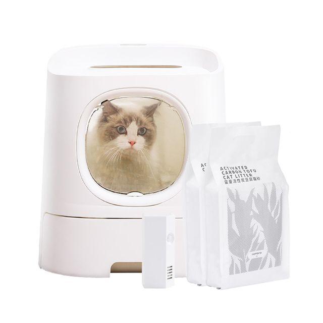 [해외] 고양이 화장실 클래식+스마트클린 캣토일렛