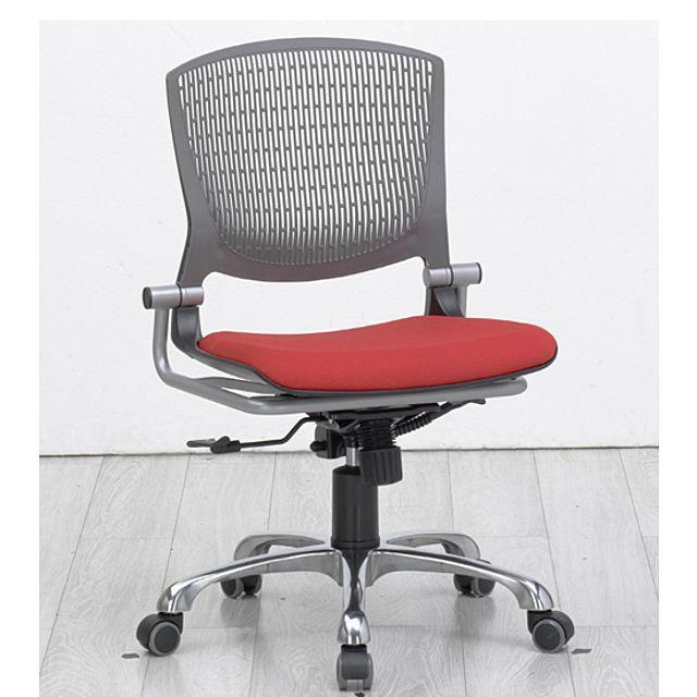사무용 회전 쿠션 의자 망사 등받이 학생 공부 레드