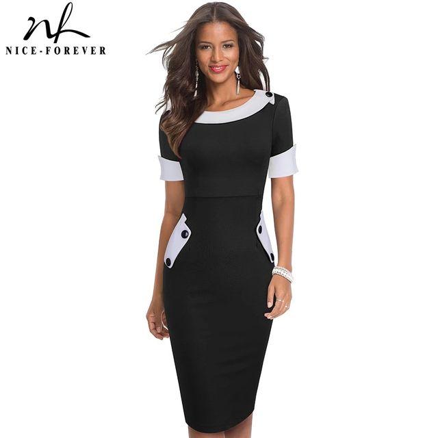 [해외] 니스-영원히 여름 여성 패션 컬러 블록 우아한 오피스