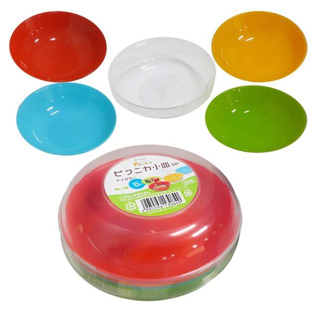 W 일본마트상품 휴대용 미니접시 5종세트 미니접시