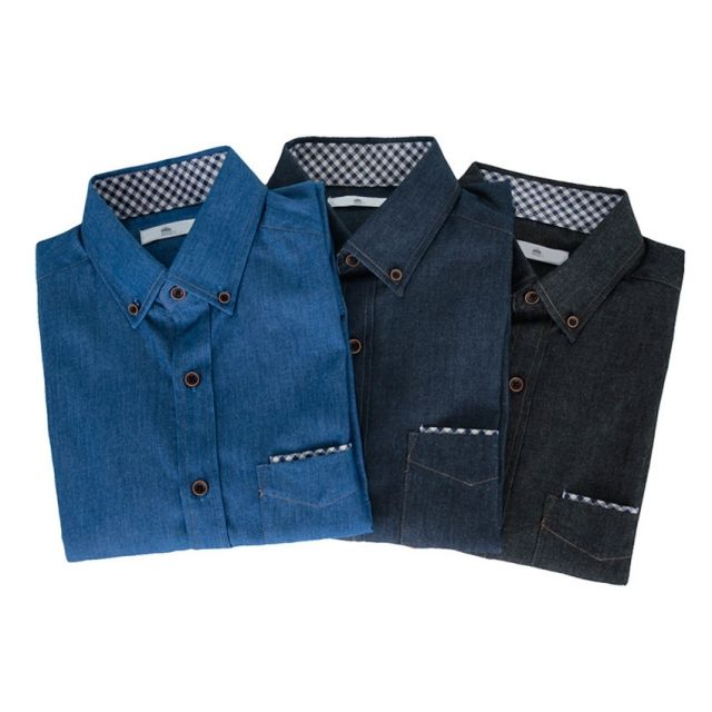 킹스맨 남자셔츠 체크 포인트 행커칩 해지 셔츠 J0416015