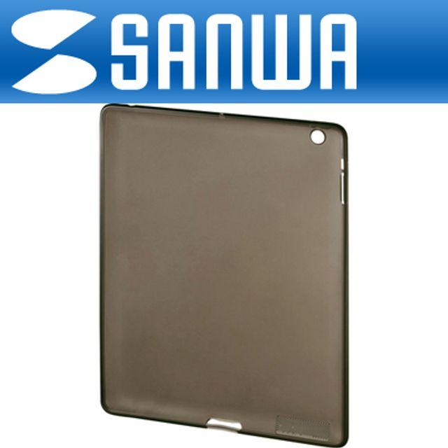 SANWA iPad2 전용 TPU 세미하드 케이스 블랙 파우치
