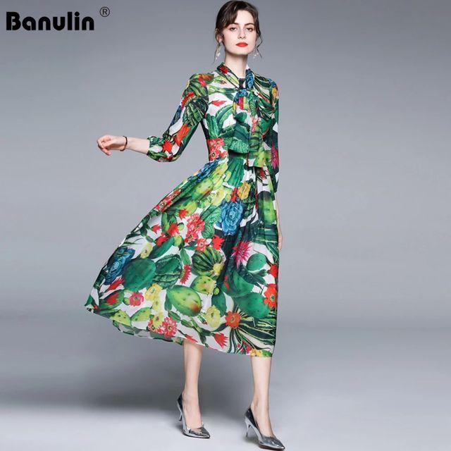 [해외] Banulin 2021 여름 패션 런웨이 비치 드레스 여성용
