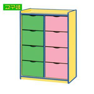 어린이 안전 노랑 서랍장 (8인용) H57-4