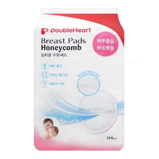 더블하트 허니콤 일회용 수유패드(144P)/모유패드
