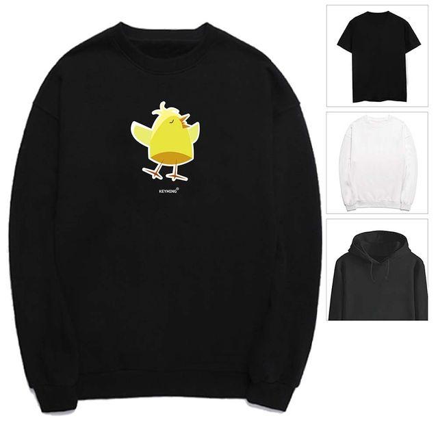 W 키밍 병아리 치킨 여성 남성 티셔츠 후드 맨투맨 반팔