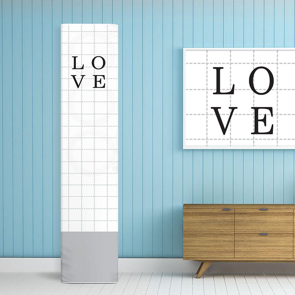 에어컨커버 스탠드형 사각일반 러브스퀘어-덮개 카바