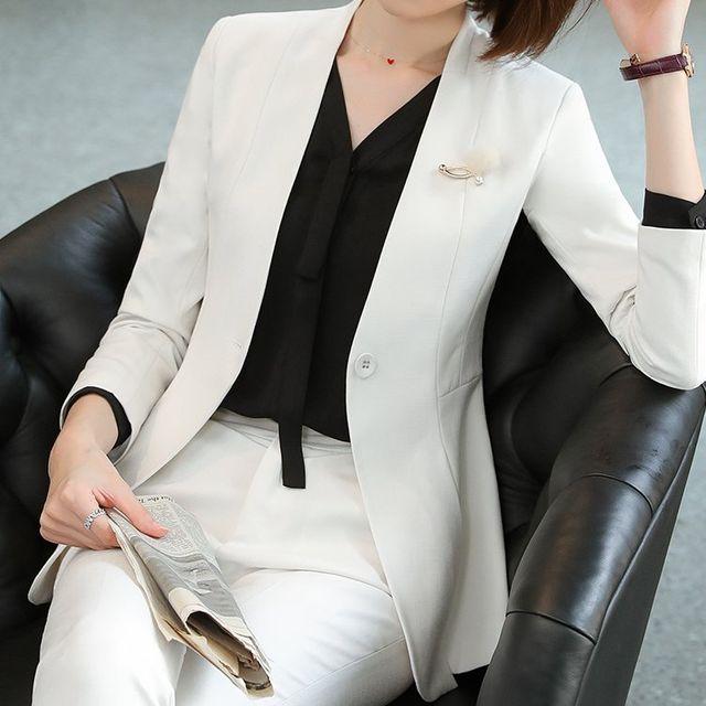 [해외] 여성 패션 재킷 자켓 정장세트 기질 한국어 버전