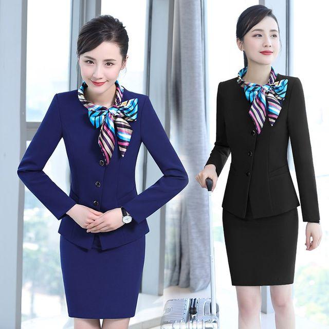 [해외] 여성 패션 재킷 자켓 정장세트 정장 유니폼 여성