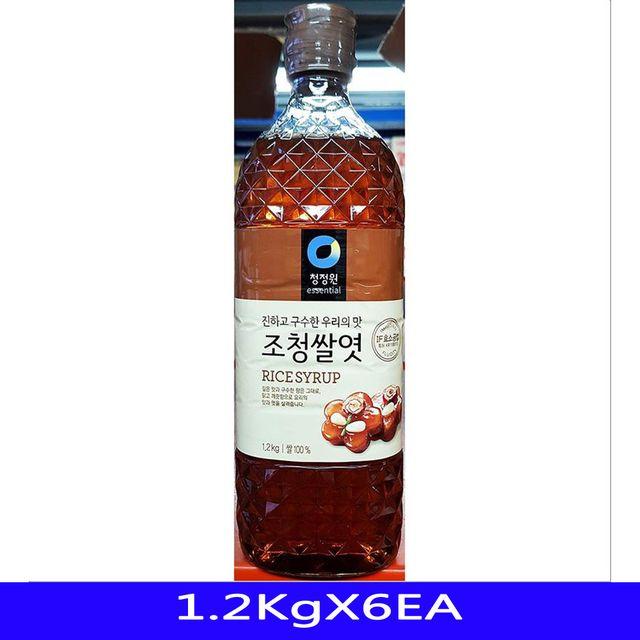 쌀엿 업소용 식재료 당류가공품 대상 1.2KgX6EA