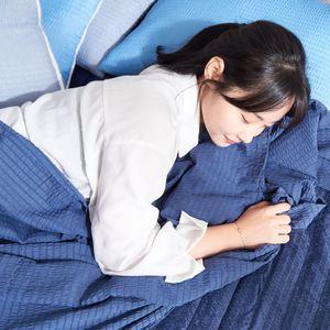 시어서커 홑이불/냉장고이불 여름 침대 얇은 리플