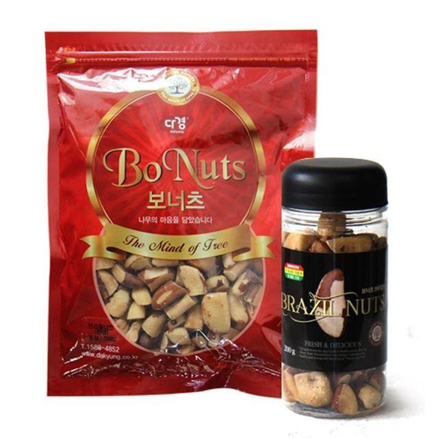 슈퍼푸드 천연셀레늄이 가득한 페루산 컷팅 브라질너트 200g(보틀컵) 500g(파우치),브라질넛,너트,견과,견과류,말린과일