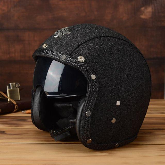 [해외] 사계절 유니버설 레트로 프린스 오토바이 헬멧
