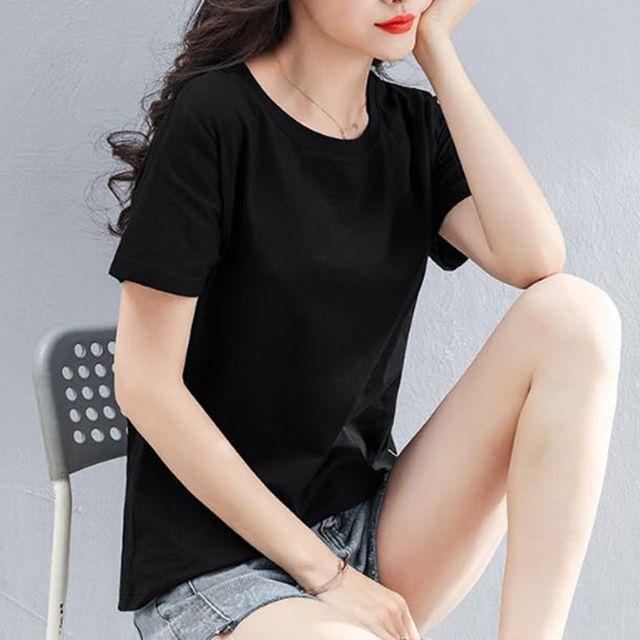 W 무지 반팔티 여자 여름 티셔츠 고퀄 면소재 캐주얼룩