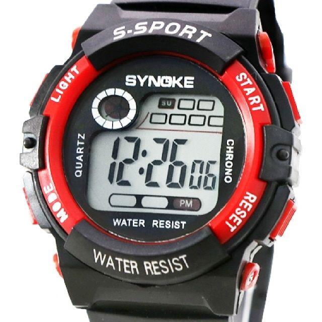 KW9102 전자 방수 아동 손목 남자 어린이 시계(빨강)