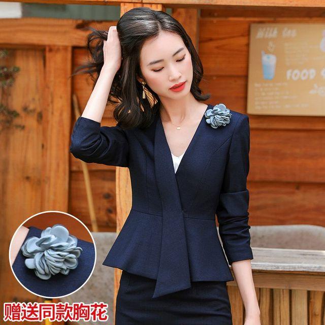 [해외] 여성 패션 재킷 자켓 정장세트 미용사 기질 전체
