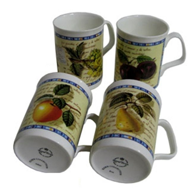 스프링 필드 후르츠 머그잔 4개 찻잔 커피 물컵 홍차 [제작 대량 도매 로고 인쇄 레이저 마킹 각인 나염 실크 uv 포장 공장 문의는 네이뽕]