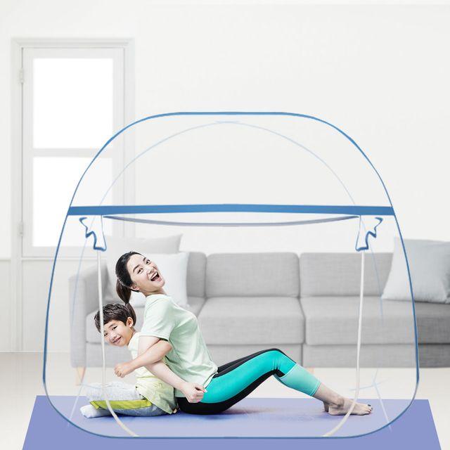 W 원터치 모기장 접이식 텐트형 방충망 패밀리 거실