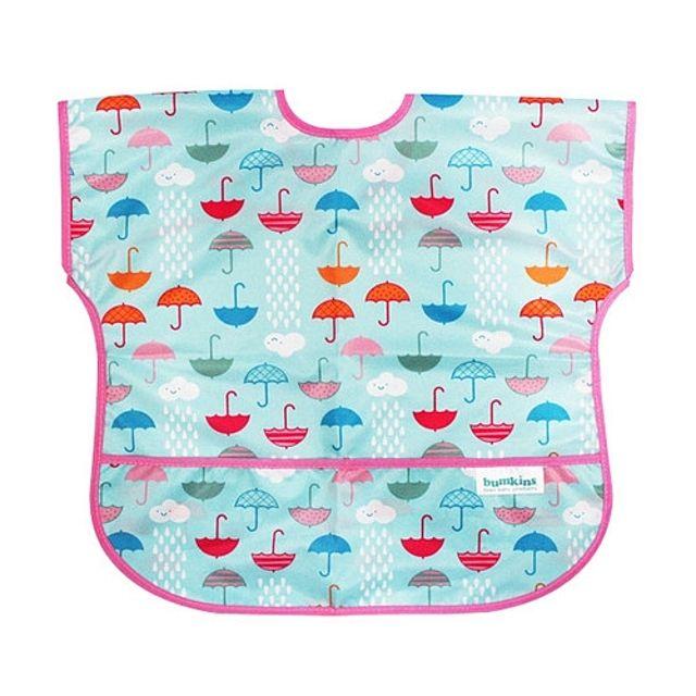 (041222)(범킨스)반팔 턱받이-우산 식기 어린이 아기 유아