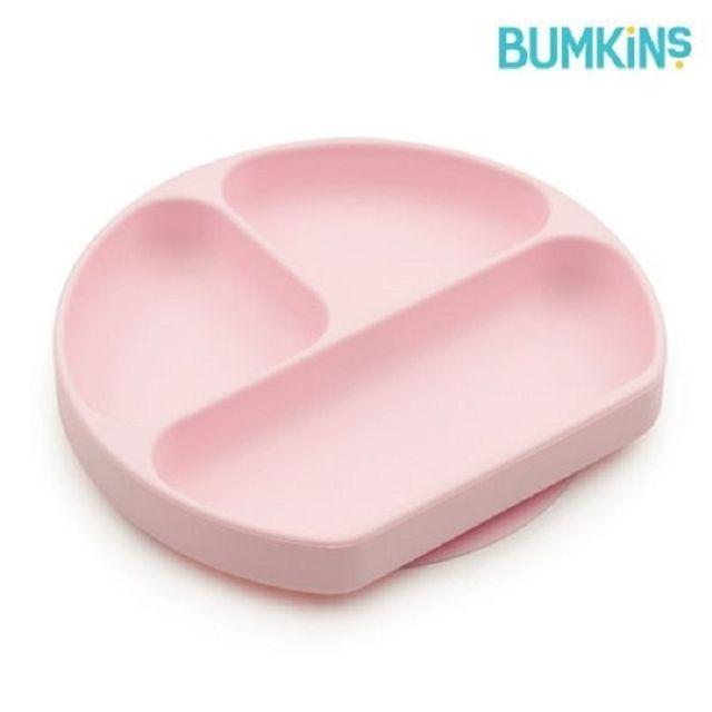 어린이식판 실리콘 흡착 유아식판 핑크 아기식판