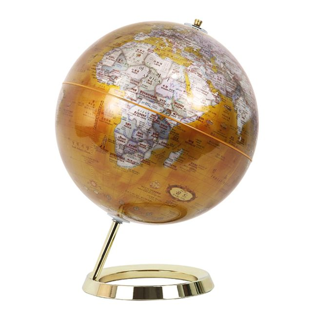 30cm 골드 모던 지구본 한영판 지구의 인테리어장식