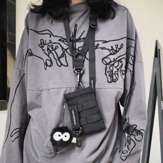 W 귀여운 사이즈 포켓 휴대폰 여행 보조가방 목걸이가방