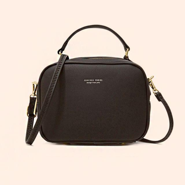 W 여성 심플 스퀘어 미니 토트백 예쁜 화장품 가방