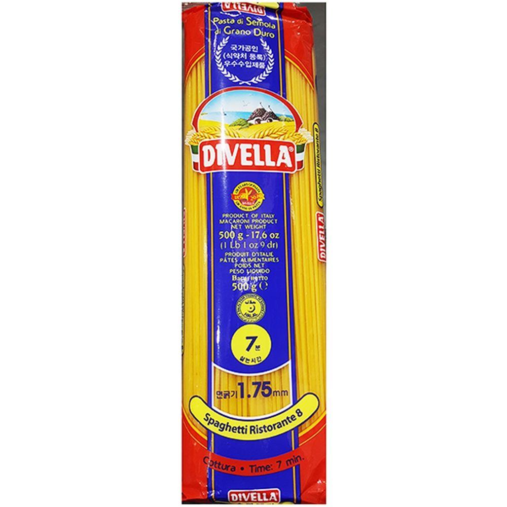 식재료 스파게티 8번(디벨라 500g)X6,스파게티,식당용스파게티,업소용스파게티,식재료스파게티,식재료