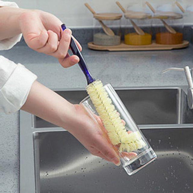 주방 다용도 다목적 좁은 입구 긴컵 젖병 세척솔