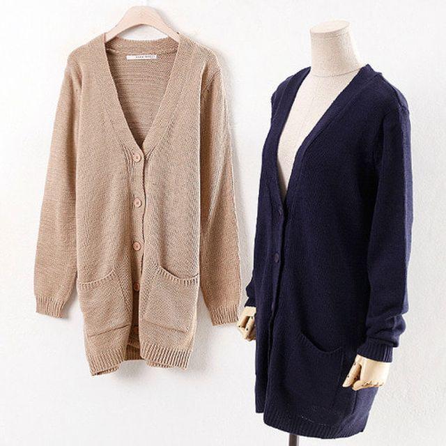 루즈핏 기본 가디건 봄 가을 여성 데일리 패션 재킷