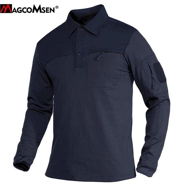 [해외] MAGCOMSEN 육군 전술 T 셔츠 남성 긴 소매 군사 전투
