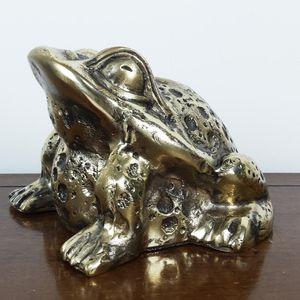 수공예 황동두꺼비 조각상 장식품 인테리어 공예 소품
