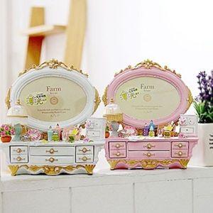 인테리어 소품 팜하우스 화장대 보석함 2color