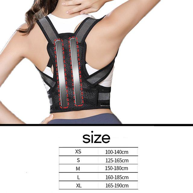 [해외] MAXRON 밴드 어깨 허리 척추 블랙 L 키 160~185CM