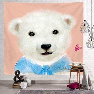 월 데코 벽공간 인테리어소품 귀여운 곰 그림가림막