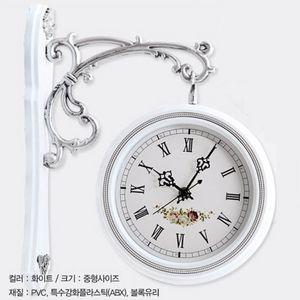 거실 복도 원룸 빈티지 인테리어 벽걸이 양면 시계