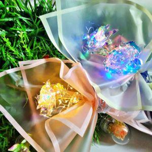 꽃빛아트 LED플라워 홀로그램 장미 노랑 핑크 꽃다발