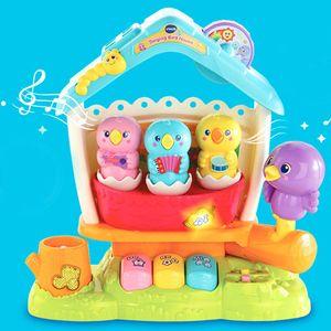 유아 장난감 멜로디 완구 노래하는 새가족 감각발달