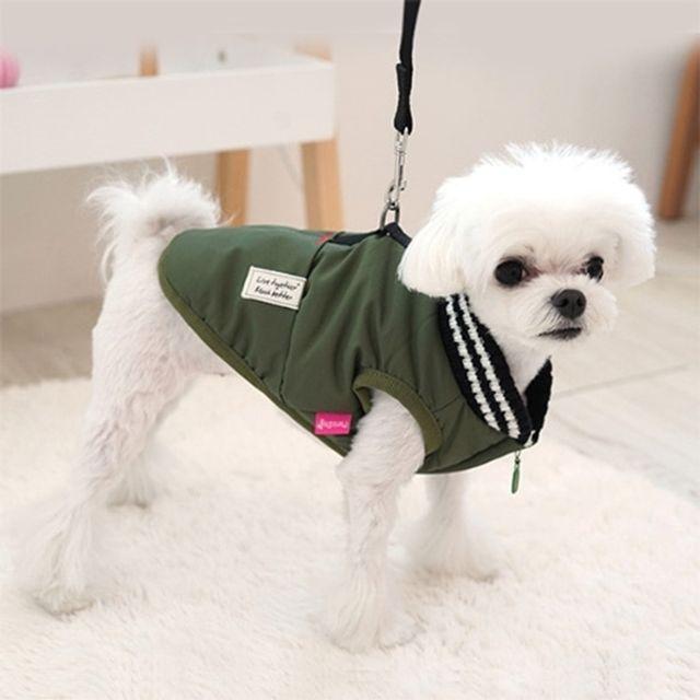 패리스독 머스크 패딩 카키(S-XL) 강아지옷 겨울옷