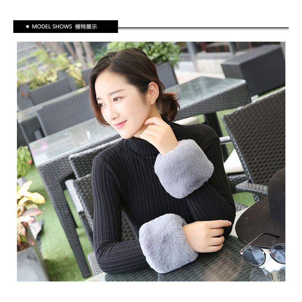 [더산쇼핑]해외직구겨울 여성 털 손목 방한보호대 토시/ 배송기간 영업일기준 5~15일
