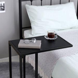 TE 사이드 틈새 보조 침대옆 소파 쇼파 테이블 블랙