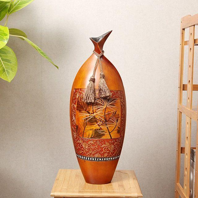 [현재분류명],동양적인 엔틱인테리어 소나무 꽃병(59cm),집들이선물,이사선물,꽃병,인테리어소품
