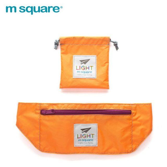 엠스퀘어 여행용 포켓백 오렌지
