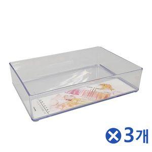 투명 뷰티소품 정리함 10호x3개 다용도정리함 수납함