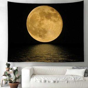 벽 가림막 포스터 둥근보름달 인테리어소품 3size