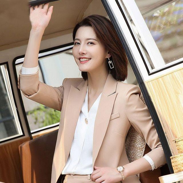 [해외] 여성 패션 재킷 자켓 정장세트이 엔드 정장 바지