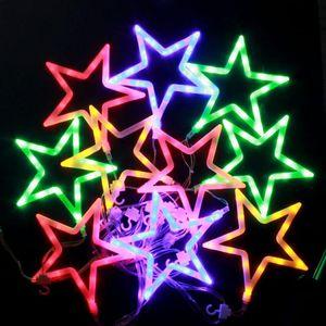 BEST LED 화이트별 칼라전구150구 투명선 (2.7M) (전